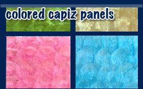 Colored Capiz Panels Shell Wall Decor Ideas Home Hotels Office
