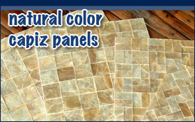 Natural Color Capiz Panels Mother of Pearl